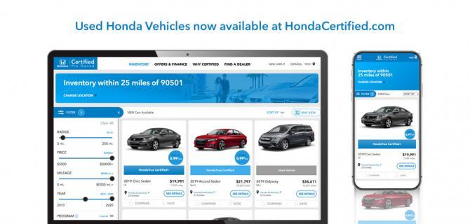 本田是首家在其网站上提供二手车的大众市场汽车制造商